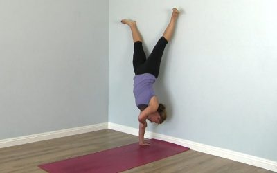 Elbow crease or elbow grease when doing a handstand?